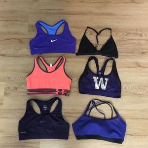 Adidas Nike under Armour VS pink sports bras
